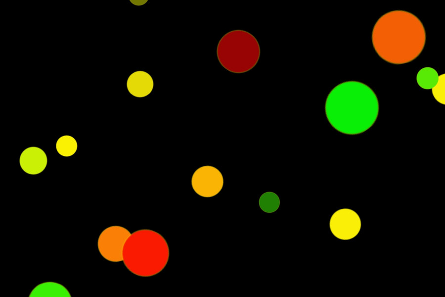 Colorful Holiday Light Bokeh Background on black background | Free Overlays