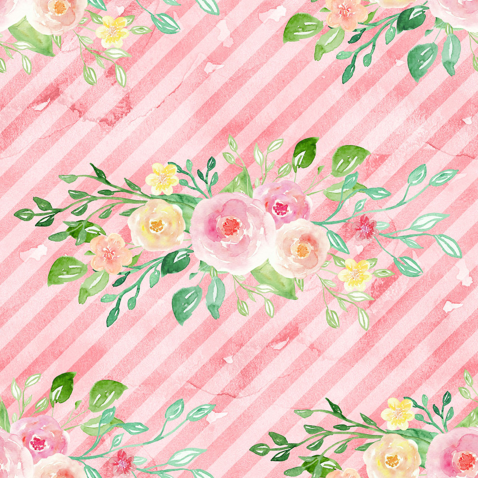 Awesome watercolor digital paper with roses | Wrapping Digital Paper