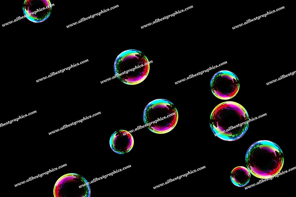 Natural Colorful Bubble Overlays | Professional Photoshop Overlays on Black