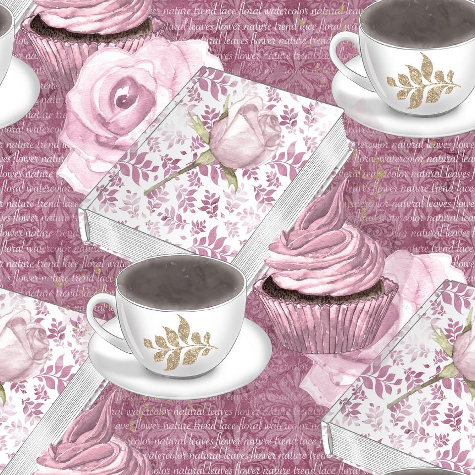 Great watercolor digital paper with pink flowers | Scrapbook Paper