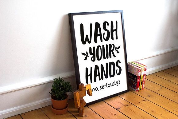 Wash your hands | Home DecorSign -FunnyQuotescut files:Eps Svg Dxf Png files. Home design DIY