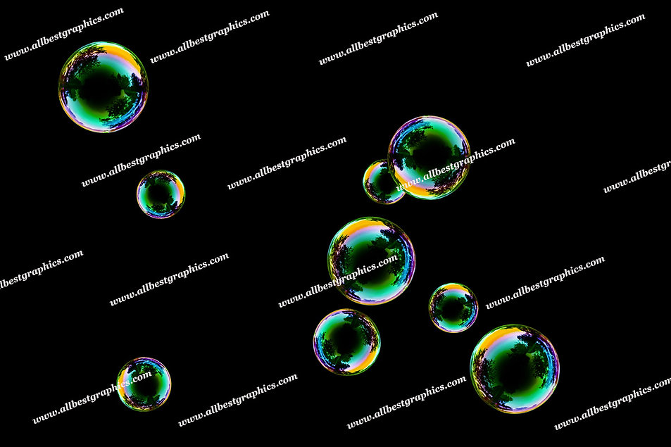 Whimsical Bright & Airy Bubble Overlays   Stunning Photo Overlay on Black
