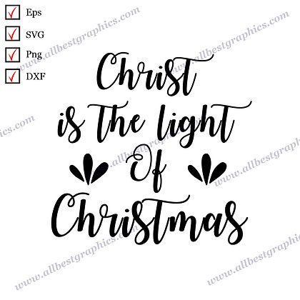 Christ Is the  Light Of Christmas | Cool Quotes Christmas Template Vector Graphi