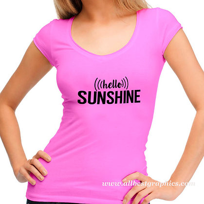 Hello sunshine | Slay and Silly T-shirt Quotes for Silhouette Cameo and Cricut