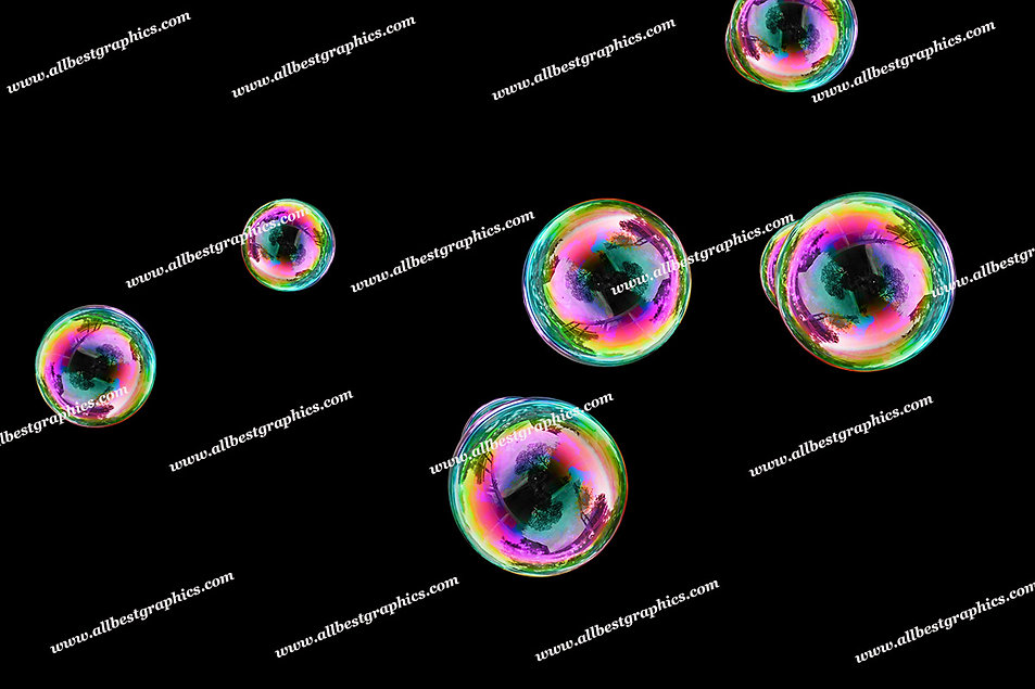 Natural Soap Bubble Overlays | Stunning Photo Overlays on Black