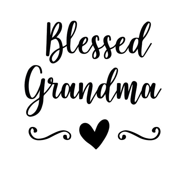 Blessed grandma | Free Printable Sassy Quotes T- Shirt Design in Png