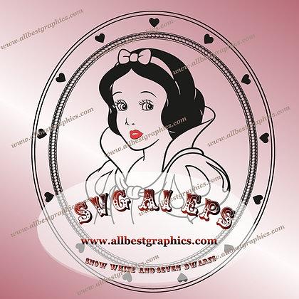 Snow White Disney Princess SVG | Snow White & Seven Dwarfs Clip Art