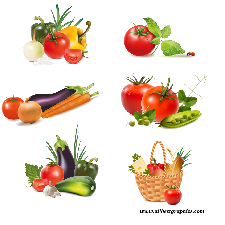 Different ripe fruits & vegetables digital collection  - Food clipart png free download size - 2400x2400 300ppi