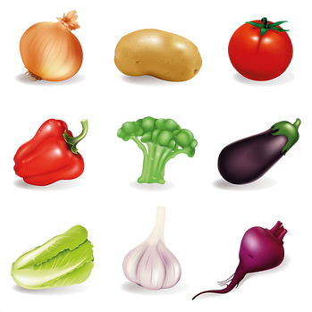 Great healthy and farm fruits & vegetables digital clipart png format  - Food clipart free download 2400x2400 png
