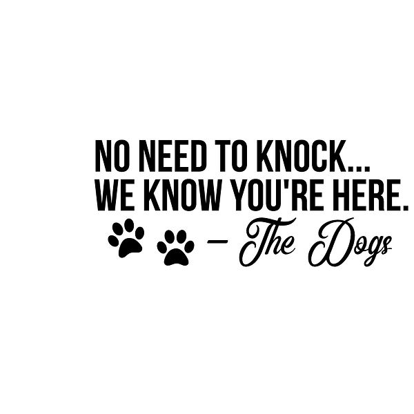 No need to knock we know you are here Png | Free download Iron on Transfer Cool Quotes T- Shirt Design in Png