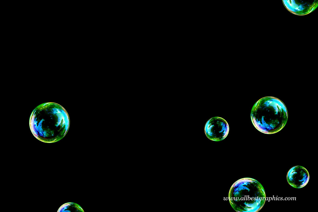 Stunning air soap bubbles on black background | Bubble Photoshop Overlay