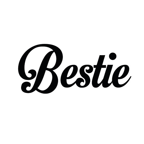 Bestie | Free Iron on Transfer Slay & Silly Quotes T- Shirt Design in Png