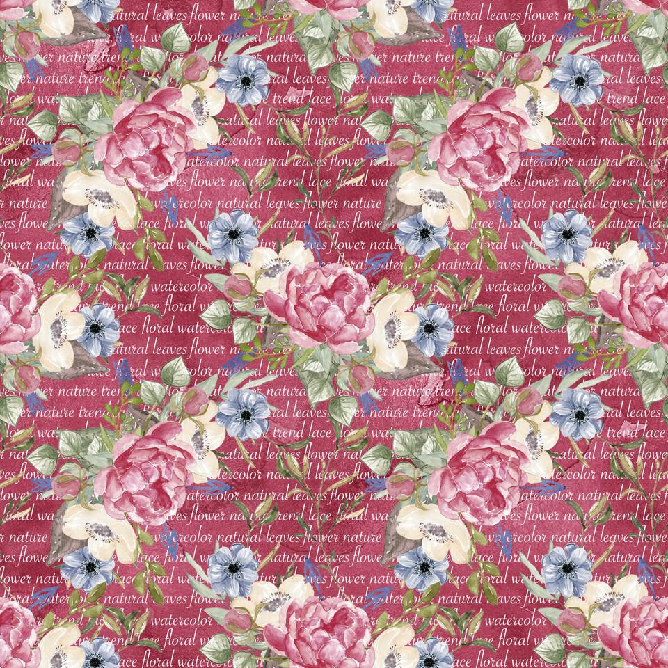 Great watercolor digital paper with roses | Printable Digital Paper