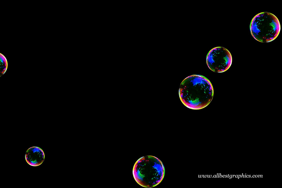 Glorious blowing soap bubbles on black background | Bubble Photoshop Overlay
