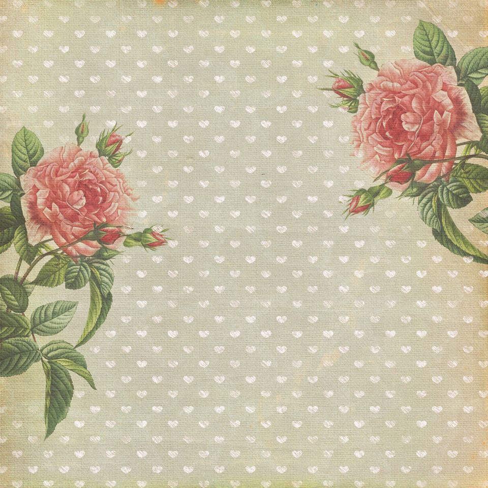 Shabby Chic roses digital paper with seamless design   Invitation Digital Papers