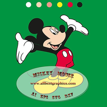 Mickey Mouse Eps Svg for Silhouette Cameo & Cricut | Mickey clipart #10