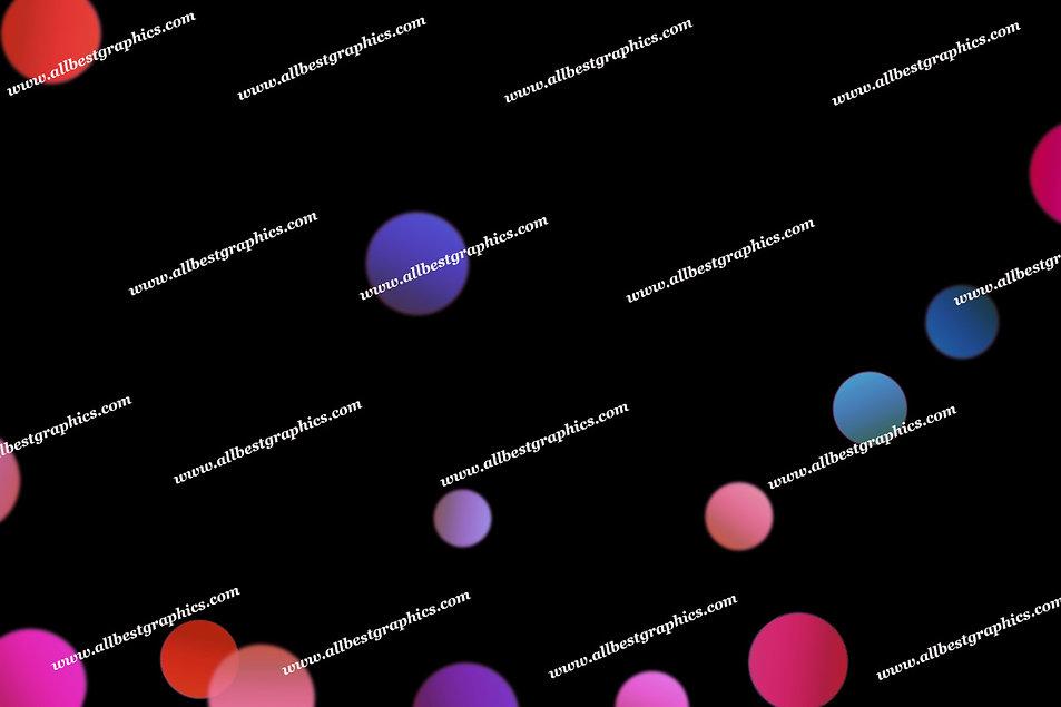 Beautiful Christmas Lights Bokeh Clipart   Fantastic Photoshop Overlay on Black