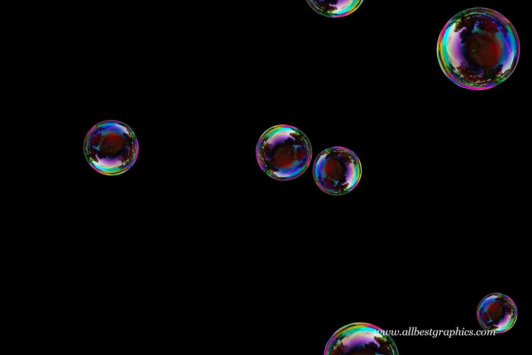 Beautiful realistic soap bubble on black background | Photoshop overlays