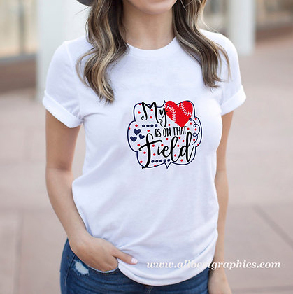 My Heart is On That Field |  Slay and Silly Sport Quotes & Signs in Eps Svg Png