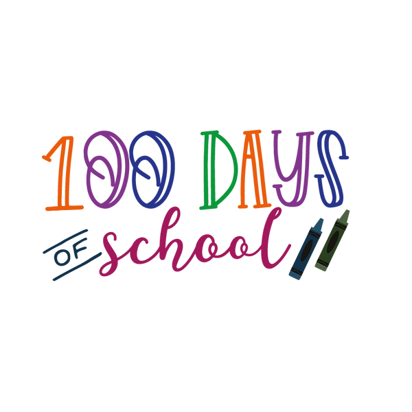 100 days school | Free Iron on Transfer Cool Quotes T- Shirt Design in Png