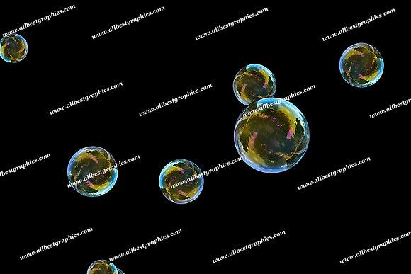 Summer Bathroom Bubble Overlays   Incredible Photoshop Overlay on Black