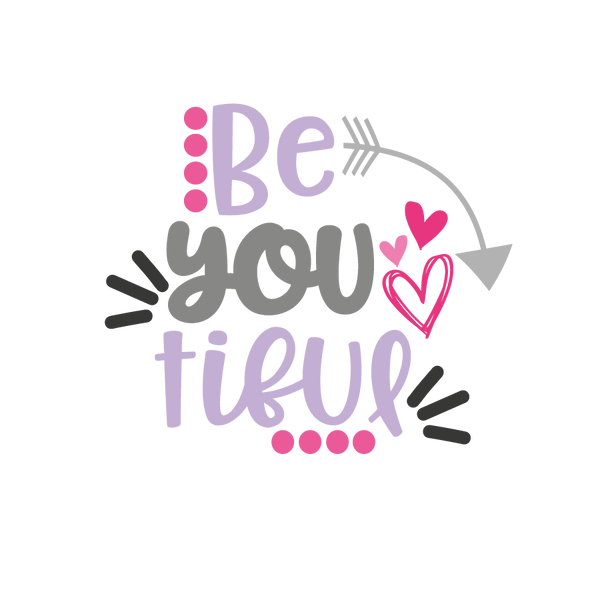 Be you tiful_2 | Free Iron on Transfer Funny Quotes T- Shirt Design in Png