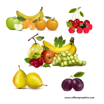 Amazing Different & Realistic Fresh Farm Fruits and Vegetables | Food clipart png free download