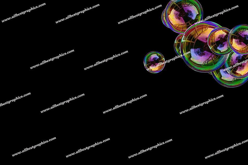 Whimsical Bathroom Bubble Overlays | Stunning Photo Overlay on Black