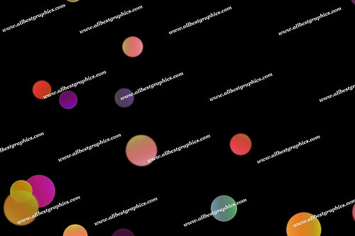 Awesome City Lights Bokeh Clip Art | Professional Photoshop Overlays on Black