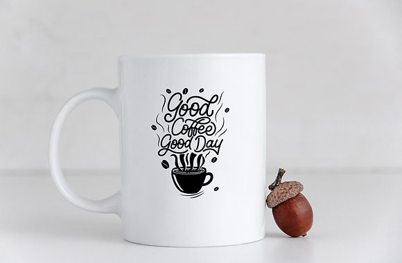 Good coffee good day | Hand-lettered funny quotes about coffee