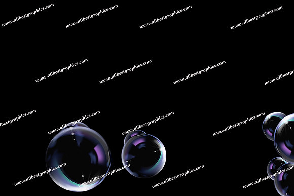 Summer Rainbow Bubble Overlays   Incredible Photo Overlays on Black