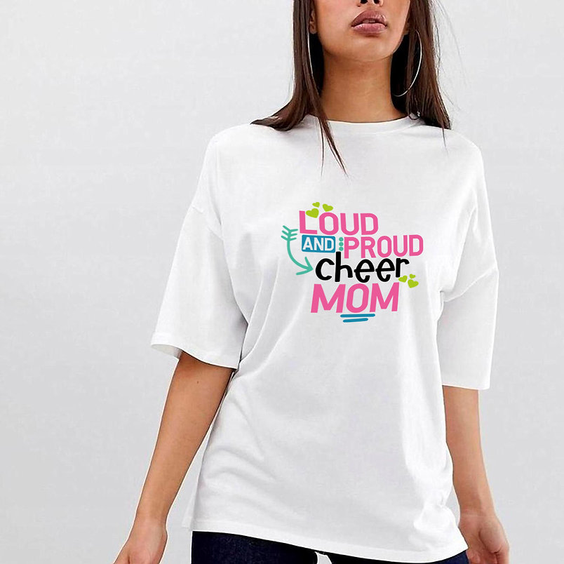 Loud And Proud Cheer Mom   Funny Mom Quotes & SignsCut files inSvg Eps Dxf