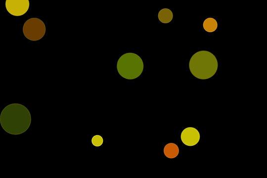 Realistic Night Light Bokeh Clipart on black background | Freebies
