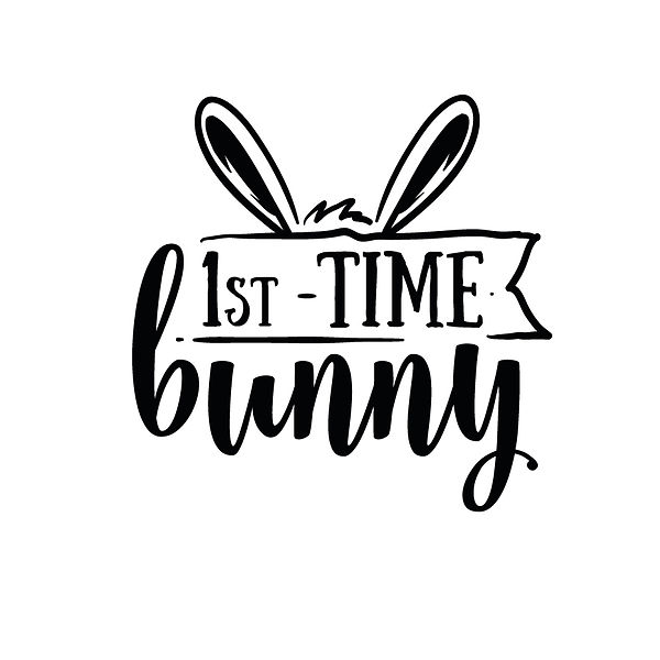 First time bunny Png | Free Iron on Transfer Slay & Silly Quotes T- Shirt Design in Png