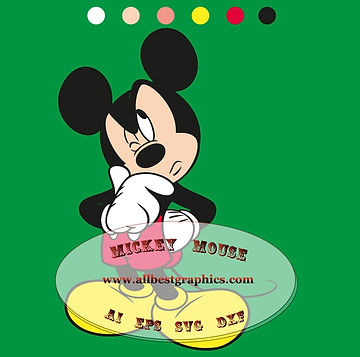 Mickey Eps Dxf Svg for Cricut & Silhouette Cameo | Mickey friends #12 vol.01