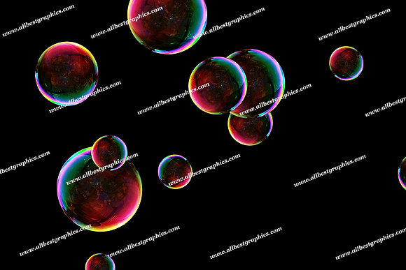 Spring Blowing Bubble Overlays | Incredible Photoshop Overlay on Black