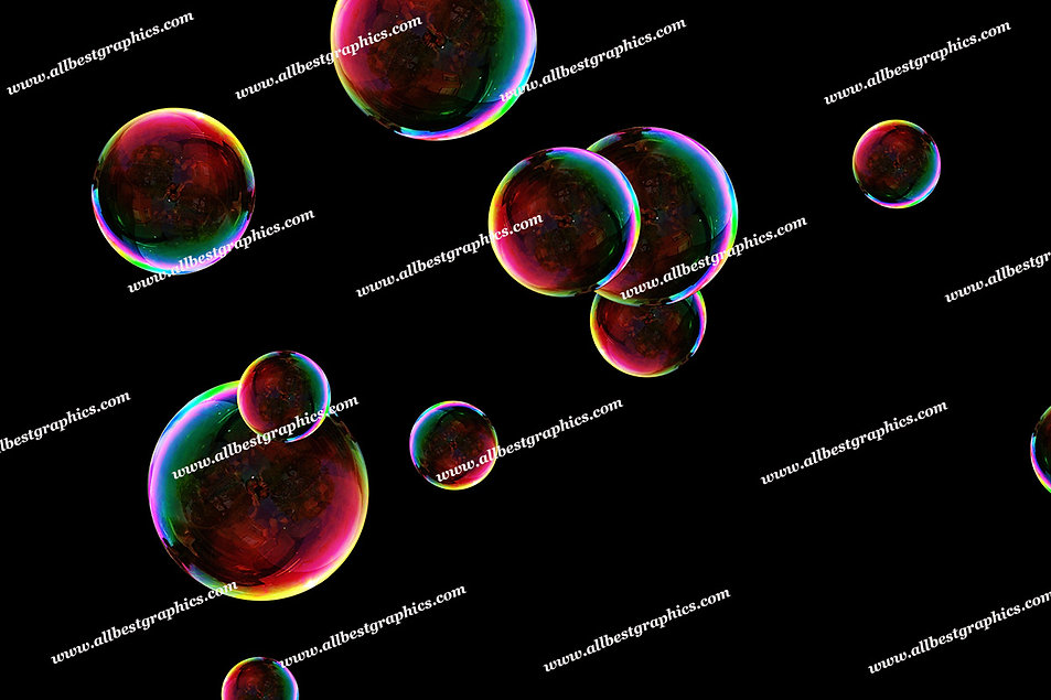 Spring Blowing Bubble Overlays   Incredible Photoshop Overlay on Black