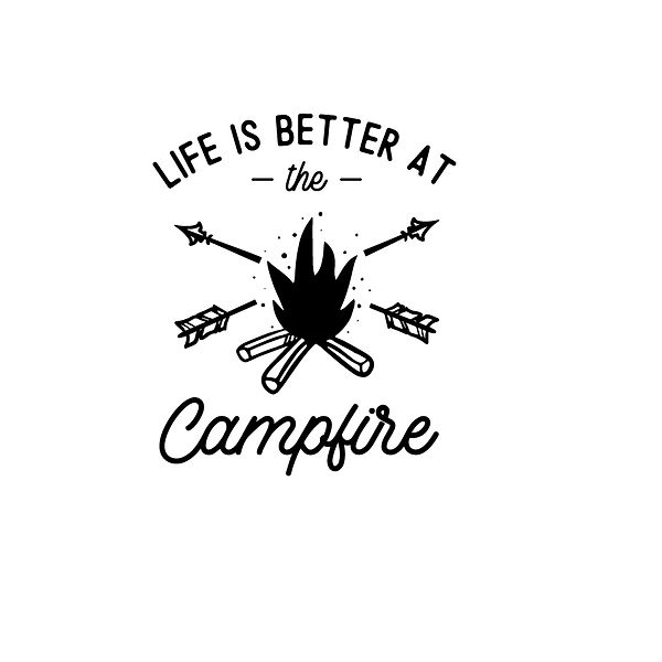 Life is better at the campfire Png | Free Iron on Transfer Funny Quotes T- Shirt Design in Png