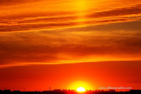 Heavenly foggy sunset background | Photo overlays