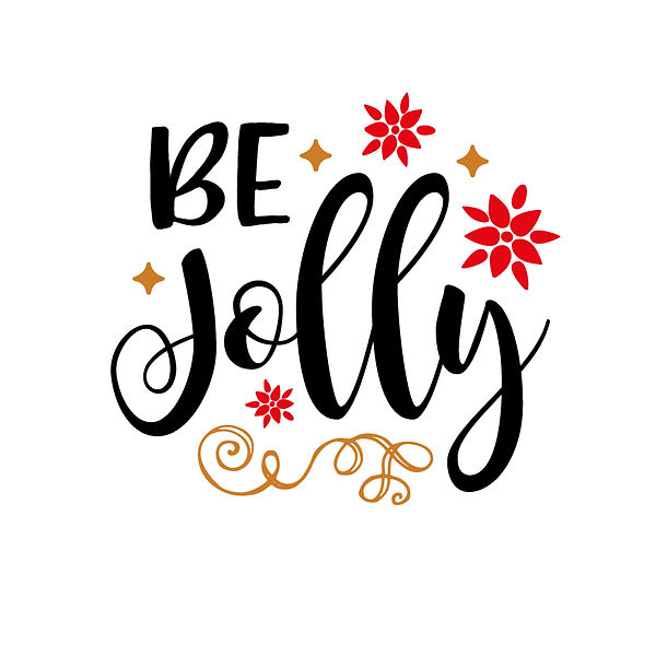 Be jolly   Free Iron on Transfer Cool Quotes T- Shirt Design in Png