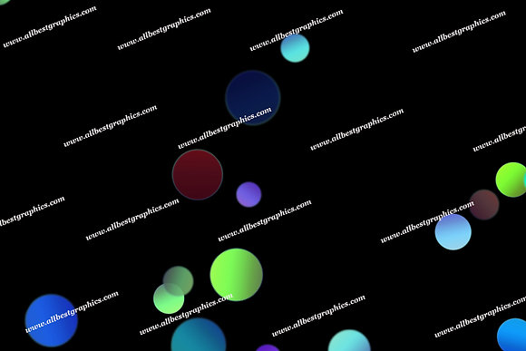 Colorful Sunlight Lights Bokeh Clip Art | Magical Photoshop Overlays on Black