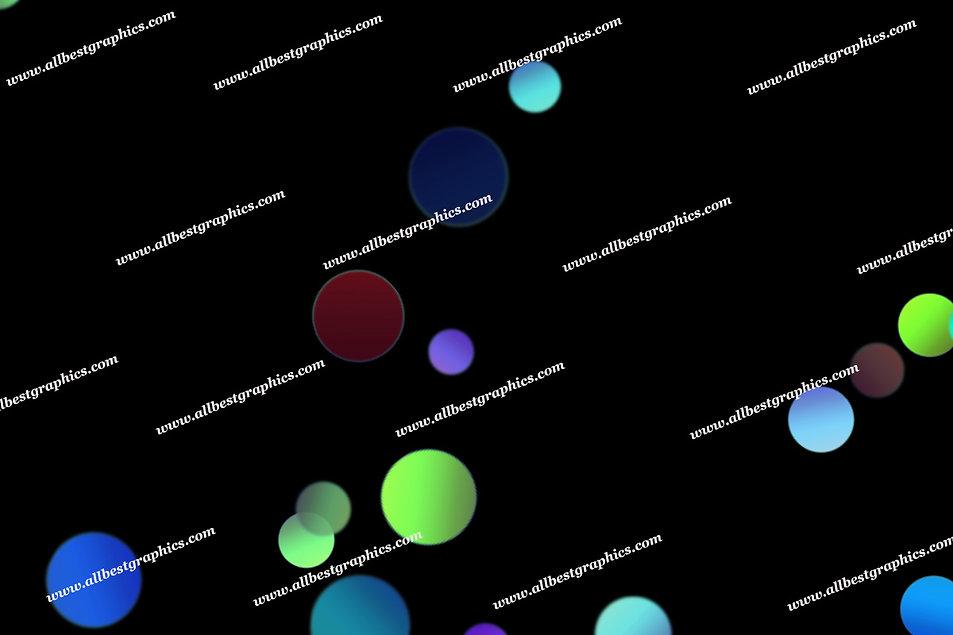 Colorful Sunlight Lights Bokeh Clip Art | Magical Photoshop Overlays on Black