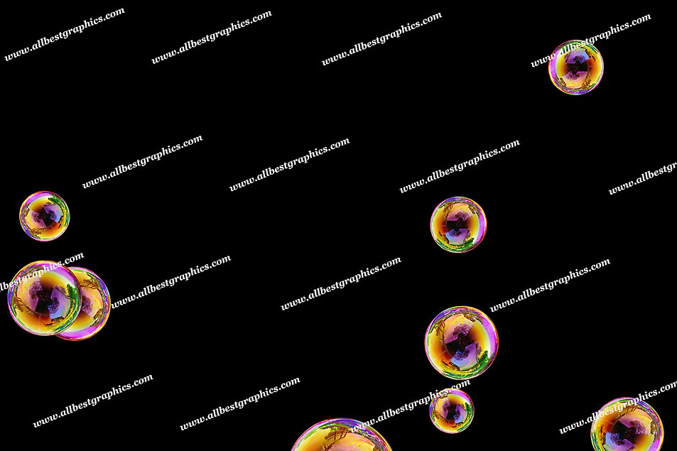 Dreamy Soap Bubble Overlays | Professional Photoshop Overlay on Black