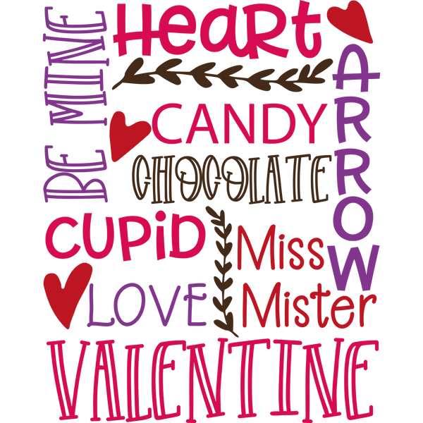Valentines Subway Art | Free download Iron on Transfer Sassy Quotes T- Shirt Design in Png