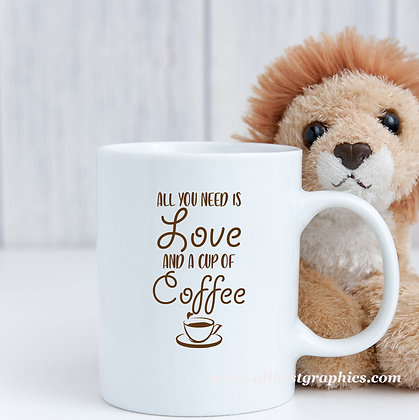 Love and coffee | Slay and Silly Coffee Quotes for Silhouette Cameo and Cricut