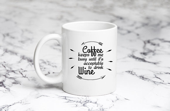 Coffee keeps me busy | Coffee mug Funny Quotes Eps Svg Dxf Png
