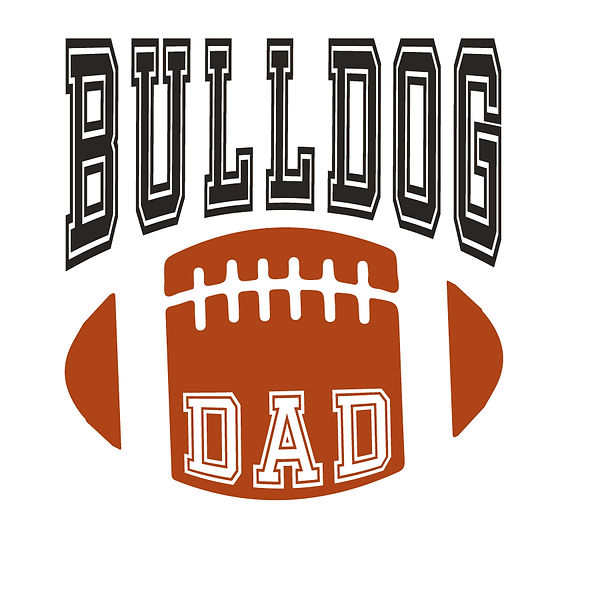 Bulldog dad | Free download Iron on Transfer Funny Quotes T- Shirt Design in Png