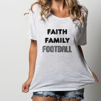 Faith family football   Printable Sassy T-shirt Quotes for Silhouette Cameo
