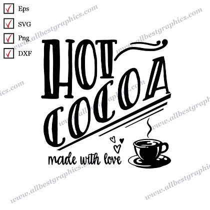 Hot Cocoa | Funny Sayings Merry Christmas Design SVG Dxf Png Eps