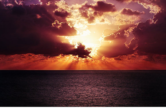 Tropical paradise, sunset sky background and overlays img_2712006